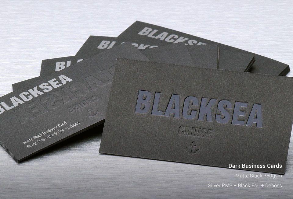 dark business cards ozstickerprinting