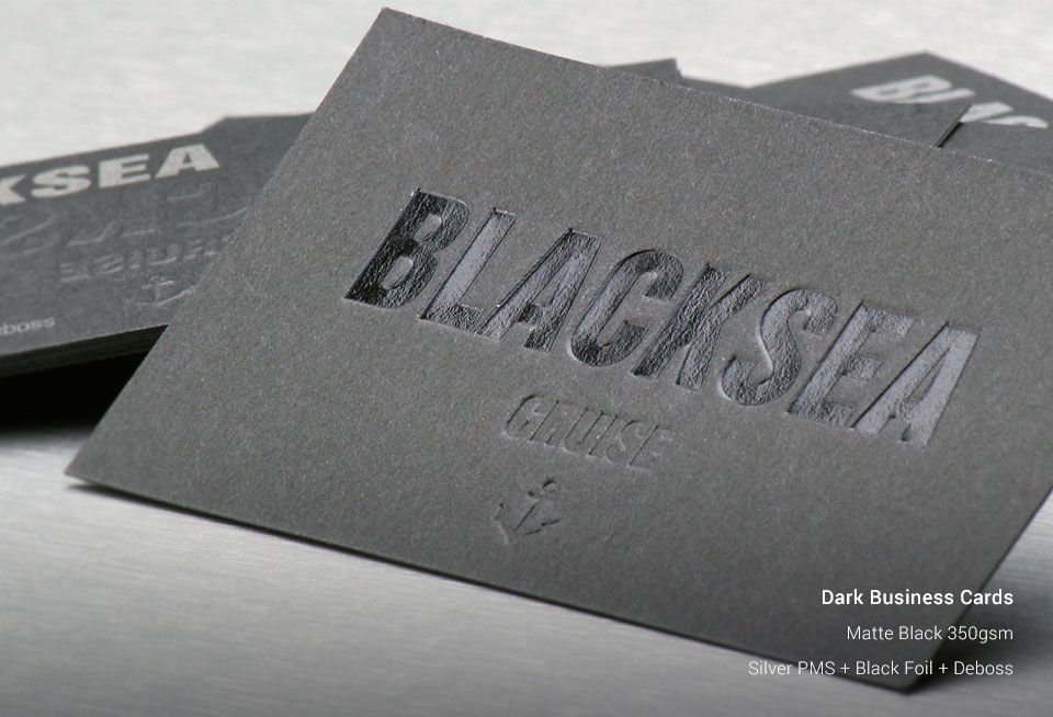 Dark business cards ozstickerprinting previous next reheart Image collections