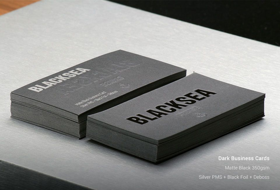 Dark Business Cards | OzStickerPrinting