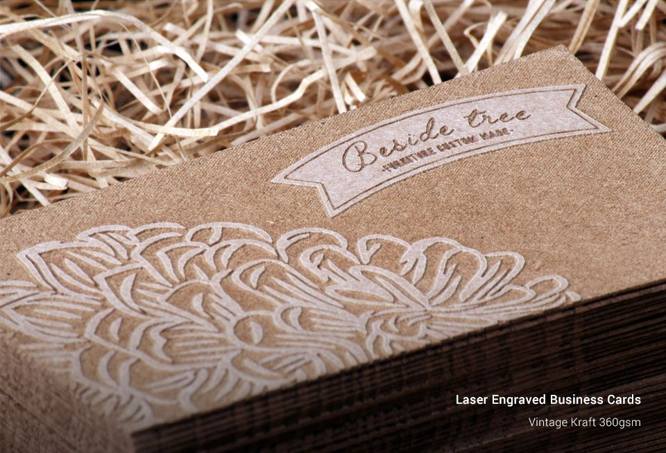 Laser engraved business cards ozstickerprinting reheart