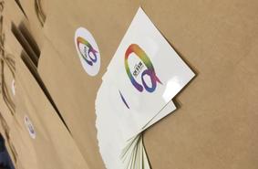 Art paper stickers testimonial