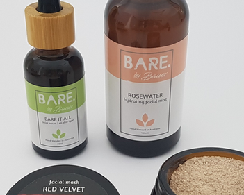 Custom stickers for Bare by Bauer as product labels for bottles, bags, tins and jars